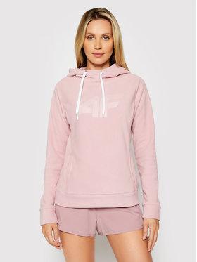 4F 4F Fliso džemperis NOSH4-PLD003 Rožinė Regular Fit