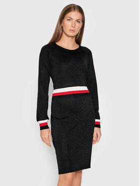 Liu Jo Sport Liu Jo Sport Džemper haljina TF1080 MA57L Crna Regular Fit
