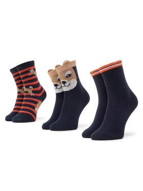 Mayoral Mayoral Súprava 3 párov detských členkových ponožiek 10833 Tmavomodrá