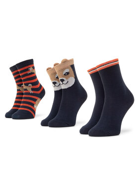 Mayoral Mayoral Vaikiškų trumpų kojinių komplektas (3 poros) 10833 Tamsiai mėlyna