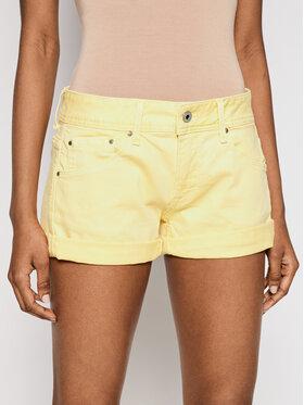 Pepe Jeans Pepe Jeans Džínové šortky Siouxie PL800685 Žlutá Regular Fit