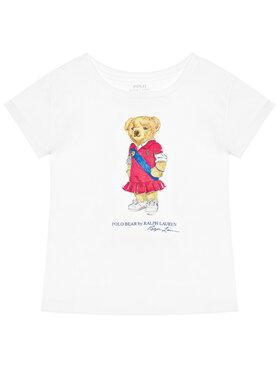 Polo Ralph Lauren Polo Ralph Lauren Marškinėliai Bear 312838265001 Balta Regular Fit