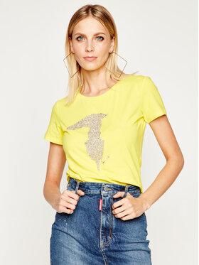 Trussardi Jeans Trussardi Jeans Marškinėliai 56T00237 Geltona Slim Fit