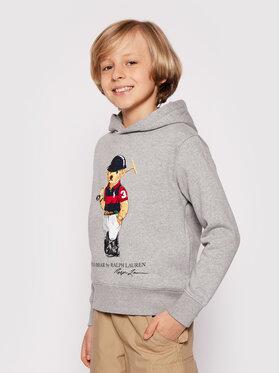 Polo Ralph Lauren Polo Ralph Lauren Μπλούζα Ls Po Hood 323838227002 Γκρι Regular Fit
