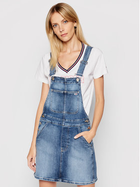 Tommy Jeans Tommy Jeans Sukienka jeansowa Classic DW0DW10111 Niebieski Regular Fit