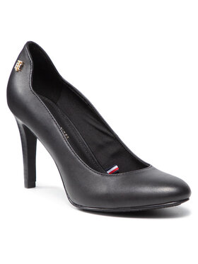Tommy Hilfiger Tommy Hilfiger Обувки на ток Th Essentials Leather Pump FW0FW05951 Черен