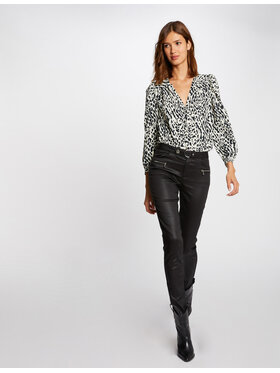 Morgan Morgan Spodnie materiałowe 212-PBIKER Czarny Slim Fit