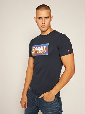 Tommy Jeans Tommy Jeans T-Shirt Centre Logo DM0DM09480 Granatowy Regular Fit