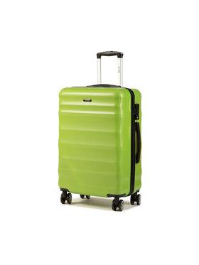 Ochnik Ochnik Közepes keményfedelű bőrönd WALPC-0006-24 Zöld