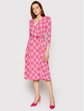 Guess Guess Každodenní šaty W1GK0S KAS20 Růžová Regular Fit