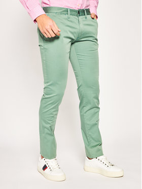 Emporio Armani Emporio Armani Spodnie materiałowe 3H1P20 1NEDZ 0561 Zielony Slim Fit