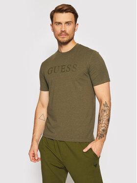Guess Guess T-shirt U1YA00 JR06K Verde Regular Fit
