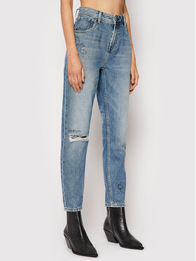 Pepe Jeans Pepe Jeans Jeansy Violet Scribble PL204138 Modrá Relaxed Fit