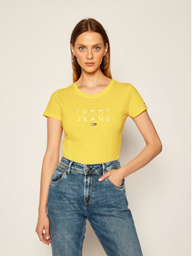 Tommy Jeans Tommy Jeans T-shirt Tjw Essential Logo DW0DW08470 Giallo Regular Fit