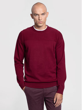 Vistula Vistula Sweter Eskil Bis XA0905 Bordowy Regular Fit