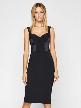 Elisabetta Franchi Elisabetta Franchi Коктейлна рокля AB-051-07E2-V299 Черен Slim Fit