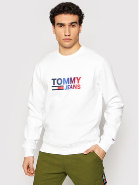 Tommy Jeans Tommy Jeans Sweatshirt Tjm Ombre Corp Logo DM0DM10202 Weiß Regular Fit