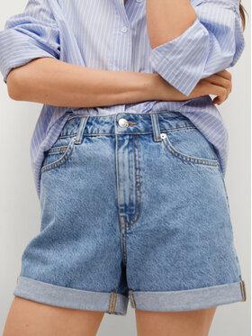 Mango Mango Pantaloni scurți de blugi Mom80 17070106 Albastru Mom Fit