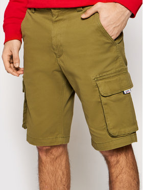 Tommy Jeans Tommy Jeans Pantaloncini di tessuto Washed Cargo DM0DM11078 Verde Regular Fit