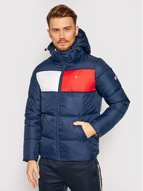 Tommy Jeans Tommy Jeans Vatovaná bunda Tjm Colorblock DM0DM09375 Tmavomodrá Regular Fit