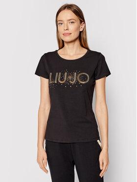Liu Jo Sport Liu Jo Sport T-shirt TF1219 J5972 Crna Regular Fit
