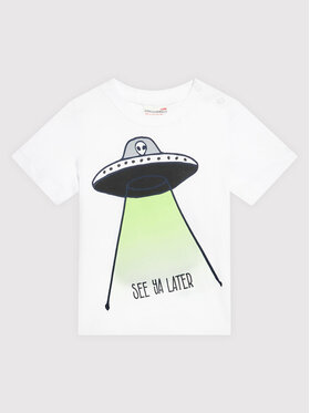 Coccodrillo Coccodrillo T-shirt ZC1143226EVB Blanc Regular Fit