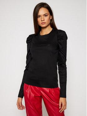KARL LAGERFELD KARL LAGERFELD Blúz Puffy Long Sleeve Top 206W1705 Fekete Regular Fit