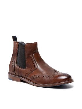 Wojas Wojas Kotníková obuv s elastickým prvkem 8156-72 Hnědá