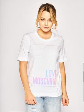 LOVE MOSCHINO LOVE MOSCHINO Тишърт W4F152FM4083 Бял Regular Fit