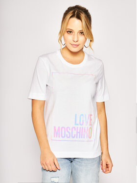 LOVE MOSCHINO LOVE MOSCHINO Tricou W4F152FM4083 Alb Regular Fit