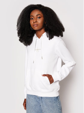 Calvin Klein Jeans Calvin Klein Jeans Mikina J20J215486 Biela Regular Fit