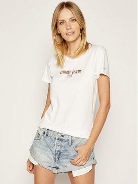 Tommy Jeans Tommy Jeans T-Shirt DW0DW06712 Bílá Regular Fit