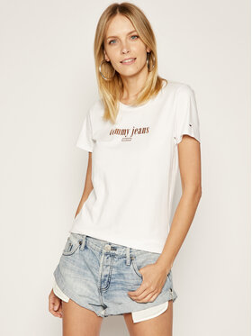 Tommy Jeans Tommy Jeans T-Shirt DW0DW06712 Weiß Regular Fit