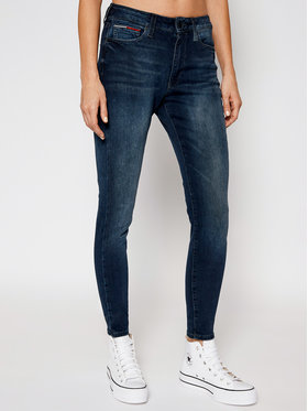 Tommy Jeans Tommy Jeans Blugi Skinny Fit Sylvia DW0DW09009 Bleumarin Skinny Fit