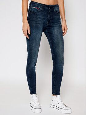 Tommy Jeans Tommy Jeans Дънки Skinny Fit Sylvia DW0DW09009 Тъмносин Skinny Fit