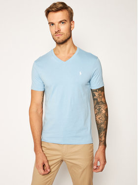 Polo Ralph Lauren Polo Ralph Lauren Tričko Classics 710671453107 Modrá Slim Fit