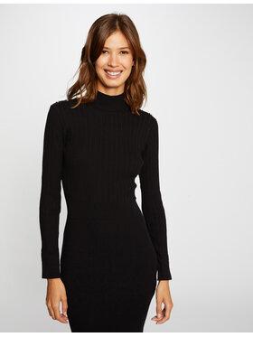 Morgan Morgan Плетена рокля 212-RMLULA Черен Slim Fit