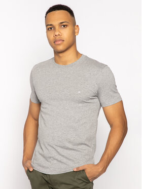 Calvin Klein Calvin Klein T-Shirt Logo Embroidery K10K104061 Szary Regular Fit