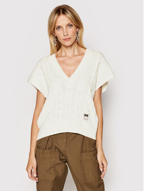 Pinko Pinko Sweter Diritto 1N137A Y7MC Beżowy Regular Fit