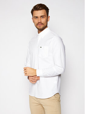 Lacoste Lacoste Риза CH2979 Бял Regular Fit