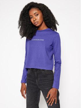 Calvin Klein Jeans Calvin Klein Jeans Tričko Logo J20J214790 Fialová Slim Fit