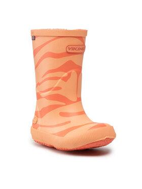 Viking Viking Holínky Classic Indie Zebra 1-14200-51 Oranžová