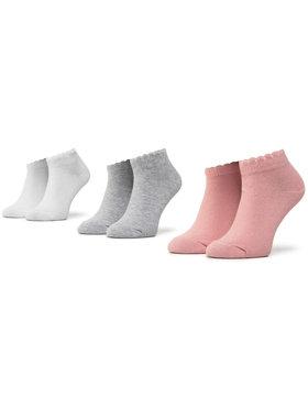 Mayoral Mayoral Súprava 3 párov detských členkových ponožiek 10877 Ružová