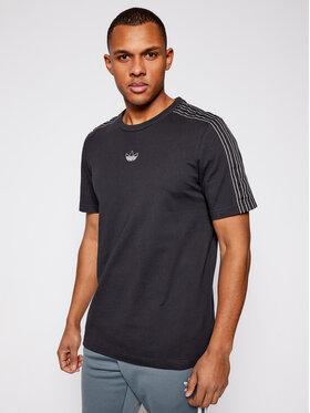 adidas adidas Тишърт Sprt 3 Stripe GN2417 Черен Regular Fit