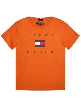 TOMMY HILFIGER TOMMY HILFIGER T-Shirt Logo Tee KB0KB06114 D Πορτοκαλί Regular Fit