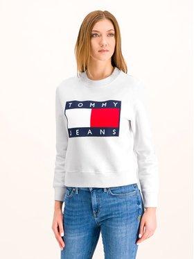 Tommy Jeans Tommy Jeans Sweatshirt Flag Crew DW0DW07414 Blanc Regular Fit