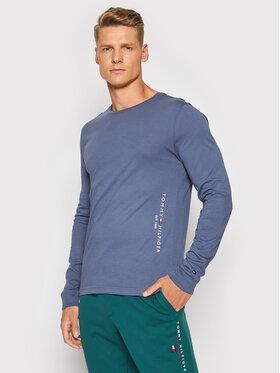 Tommy Hilfiger Tommy Hilfiger Тениска с дълъг ръкав Logo MW0MW18735 Син Regular Fit