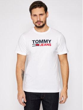 Tommy Jeans Tommy Jeans T-Shirt Tjm Corp Logo Tee DM0DM10214 Λευκό Regular Fit