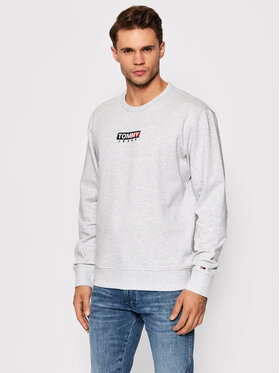 Tommy Jeans Tommy Jeans Bluza Entry Graphic Crew DM0DM11627 Szary Regular Fit
