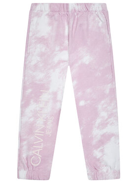 Calvin Klein Jeans Calvin Klein Jeans Sportinės kelnės Cloud Aop IG0IG00775 Rožinė Relaxed Fit